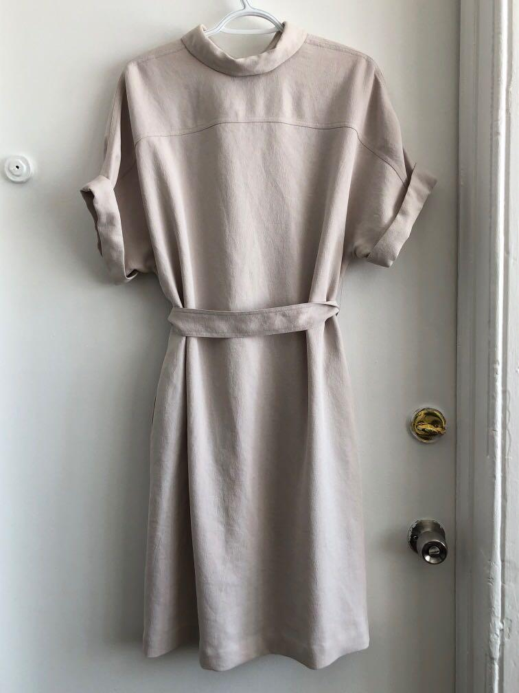 ARITZIA BABATON JAPANESE FABRIC SHIRT DRESS SIZE MEDIUM
