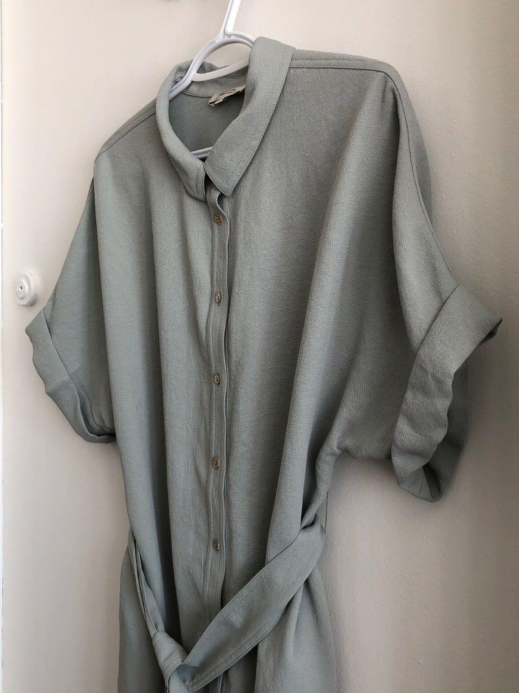 ARITZIA BABATON JAPANESE FABRIC SHIRT DRESS SIZE MEDIUM