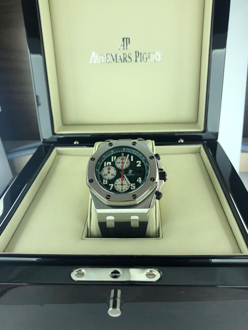 Audemars piguet royal oak offshore 42 mm green dial monte napoleone (limited edition 100 pcs & full set)