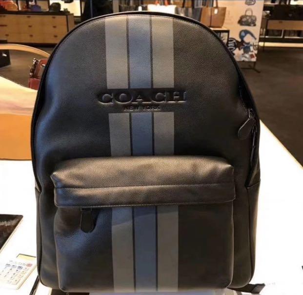 Authentic coach men backpack traveller bag laptop a bag leather backpack hbbjj