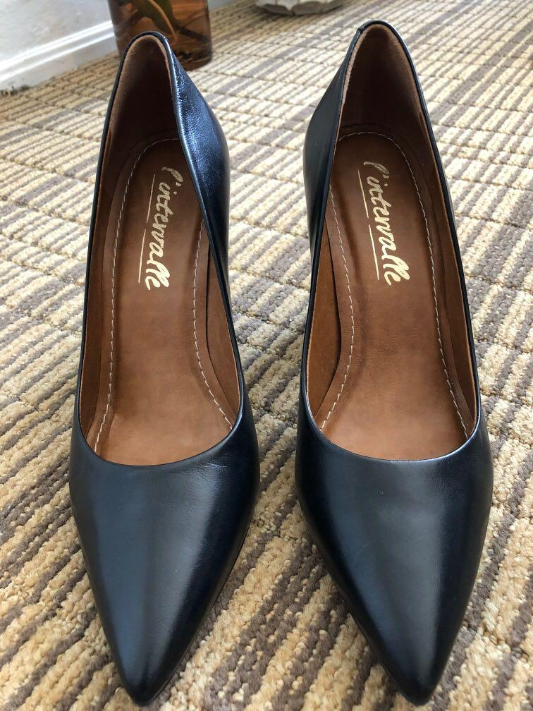BRAND NEW L'INTERVALLE SPANISH LEATHER HIGH HEELS SIZE 7/7.5