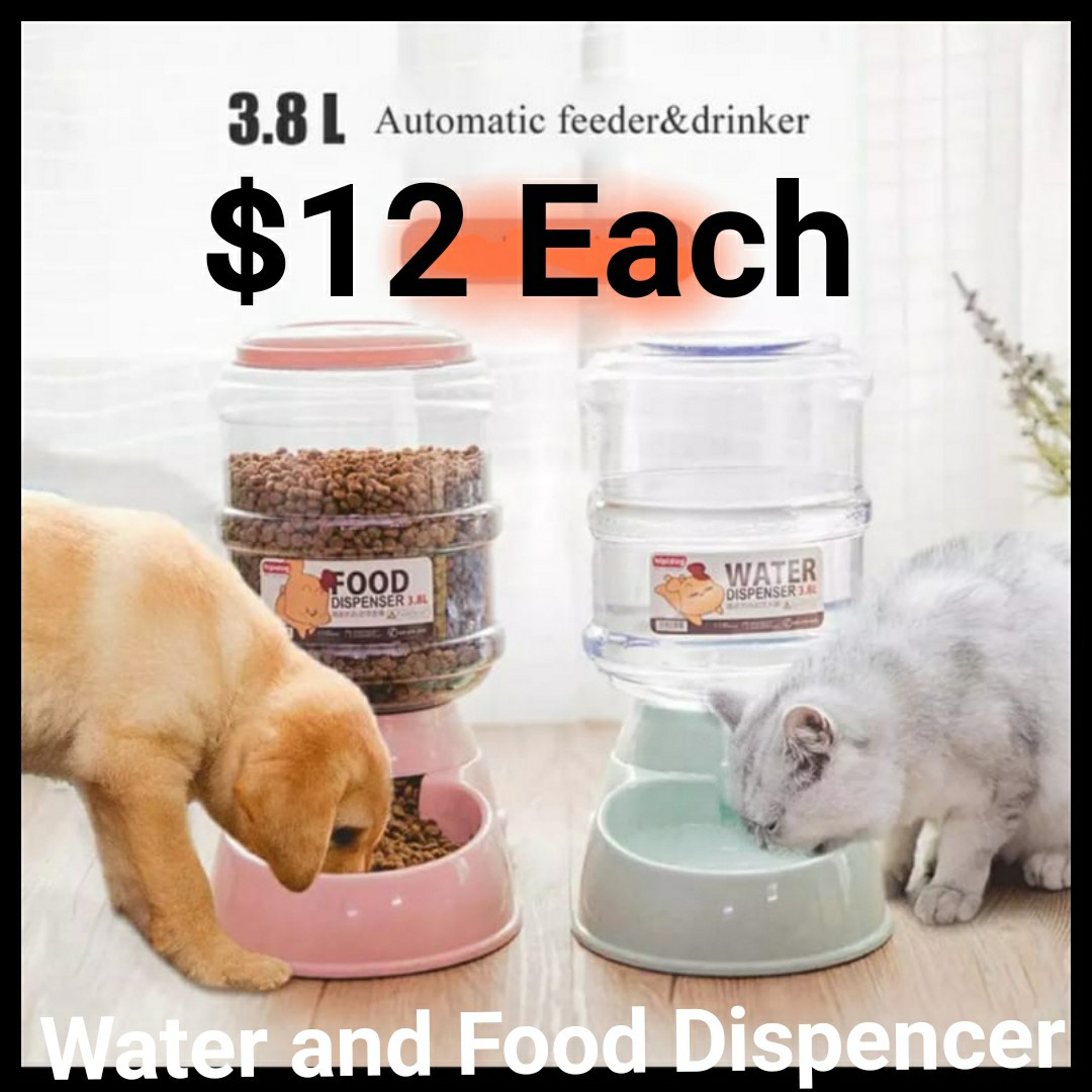 Food Container Pet Automatic Feeder Dog Cat Drinking Bottle Bowl For Dog Water Drinking Cat Feeding Large Capacity Dispenser High Quality 12 Each Pet Supplies For Cats Cat Accessories On Carousell