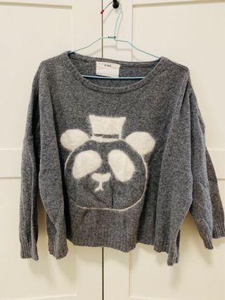 灰色小熊毛衣