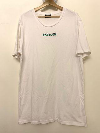 洛杉磯潮牌 Babylon 刺繡 白色 短袖 上衣 T-shirt