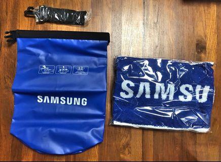 Samsung summer sporty bag 夏日海洋組 waterproof bag & sporty towel 運動防水袋 舒服毛巾