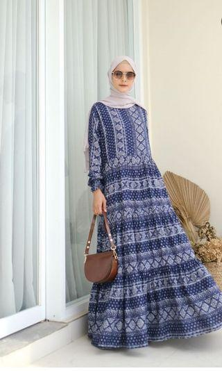 Dress Navy Uk M by Shafa Official