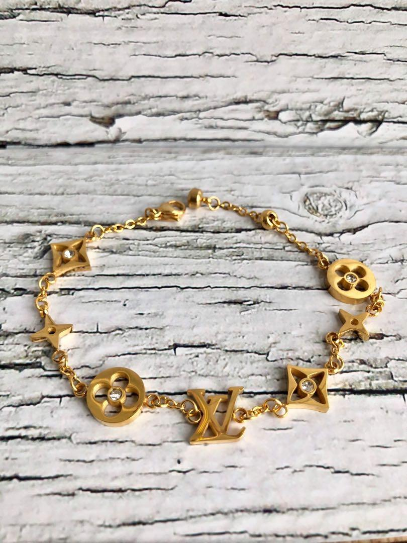 Bracelet chain Lv Louis Vuitton blossom flower crystal titanium steel not faded