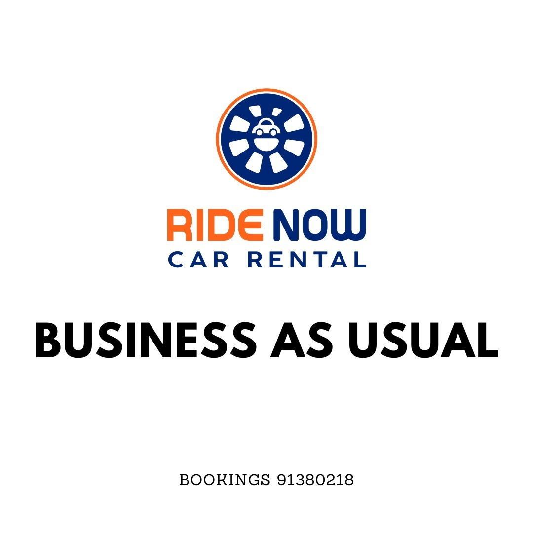 Business as usual for Ride Now Car Rental Fret not! We are still here to support you in any vehicle needs you may need during this uncertain period!