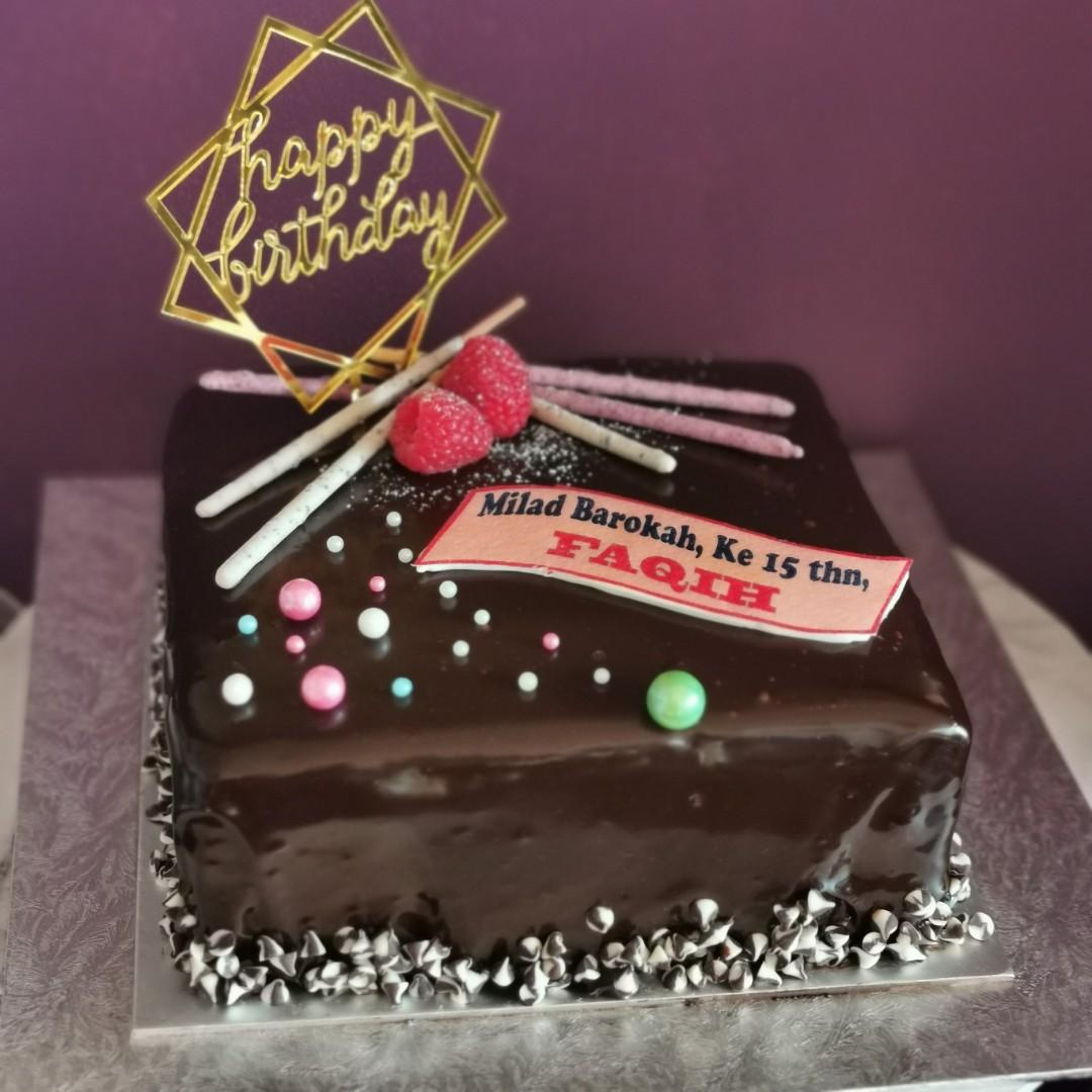 Pleasant Chocolate Ganache Cake Food Drinks Baked Goods On Carousell Personalised Birthday Cards Vishlily Jamesorg