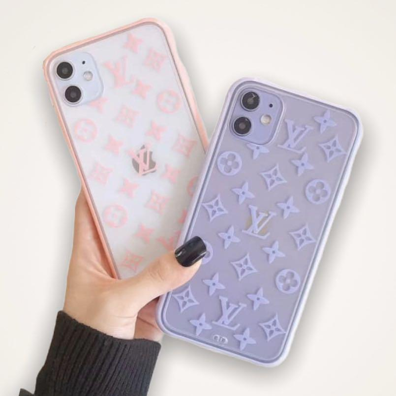 SHIPPING ONLY: Louis Vuitton LV monogram iPhone case (baby pink & lavender)