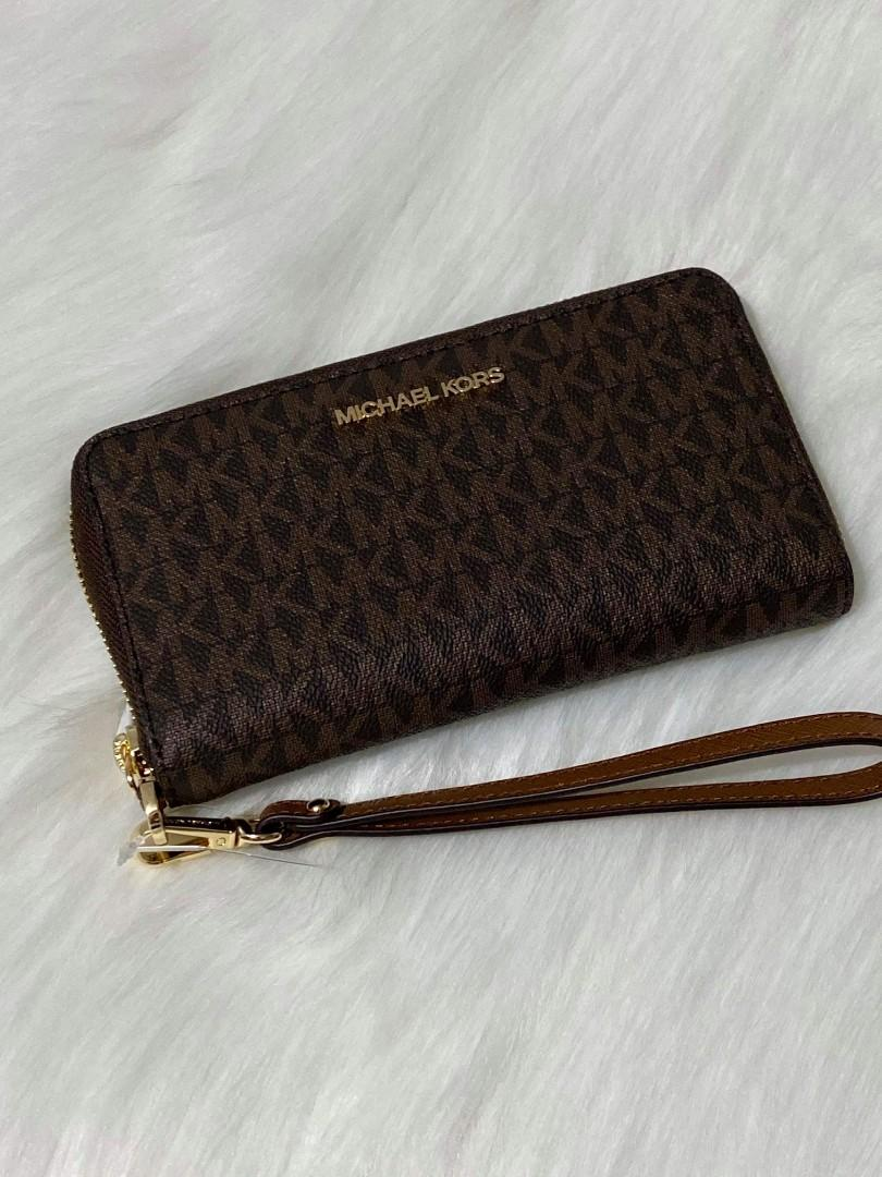 MICHAEL KORS LARGE FLAT PHONE CASE WRISTLET WALLET