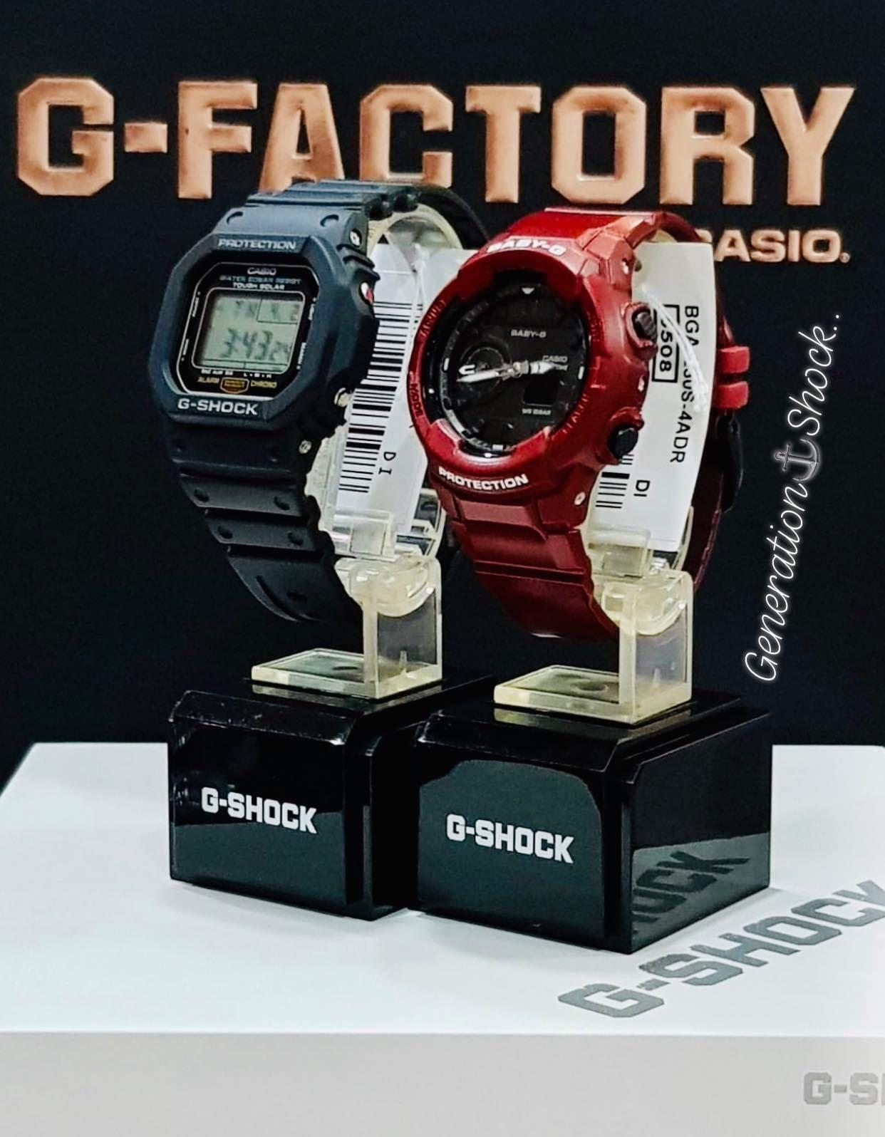NEW🌟COUPLE💝SET : BABYG + GSHOCK DIVER UNISEX SPORTS WATCH  : 100% ORIGINAL AUTHENTIC CASIO BABY-G-SHOCK : BGA-230S-4A + G-5600E-1