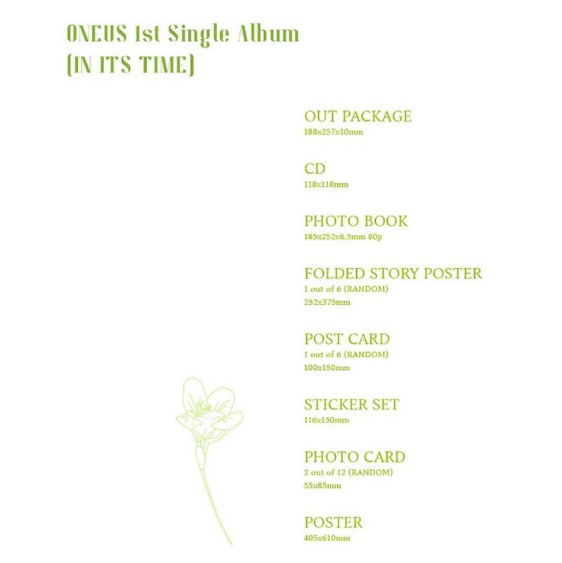 "[PREORDER] ONEUS SINGLE ALBUM VOL. 1 ""IN ITS TIME"""
