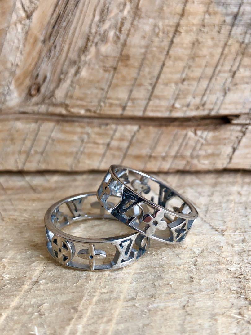 Ring band size 7, 8 surgical titanium steel Lv designer Louis Vuitton