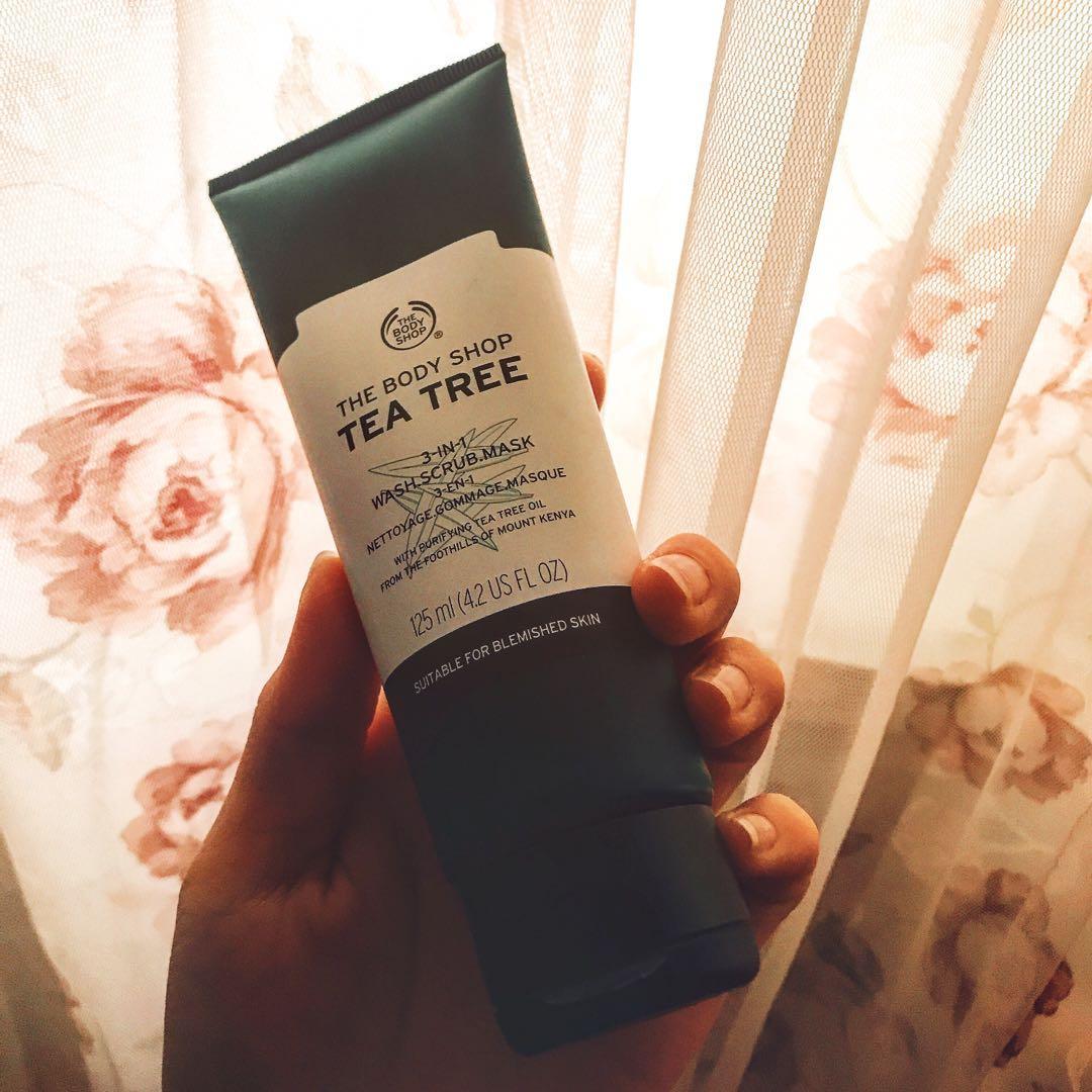 🔆The body shop茶樹三效淨膚-磨砂-面膜🔆