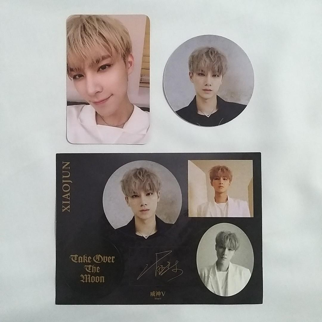 WayV Take Over The Moon XIAOJUN Photocard, Circle Card, Sticker