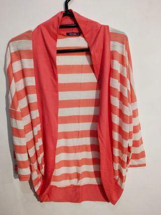 Cardigan Orange Stripe