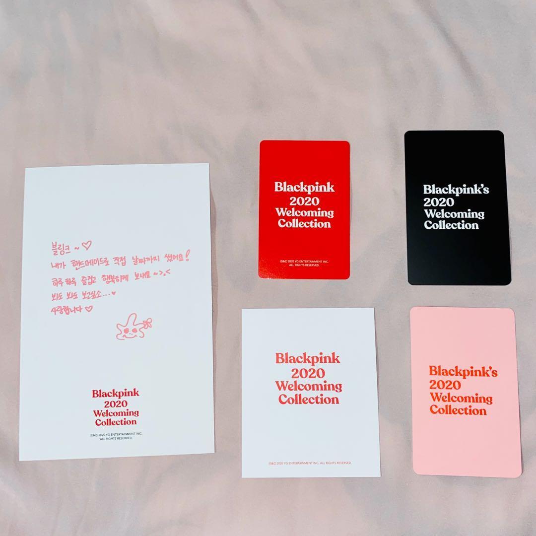 BLACKPINK 2020 welcoming collection - jisoo photocard / postcard set