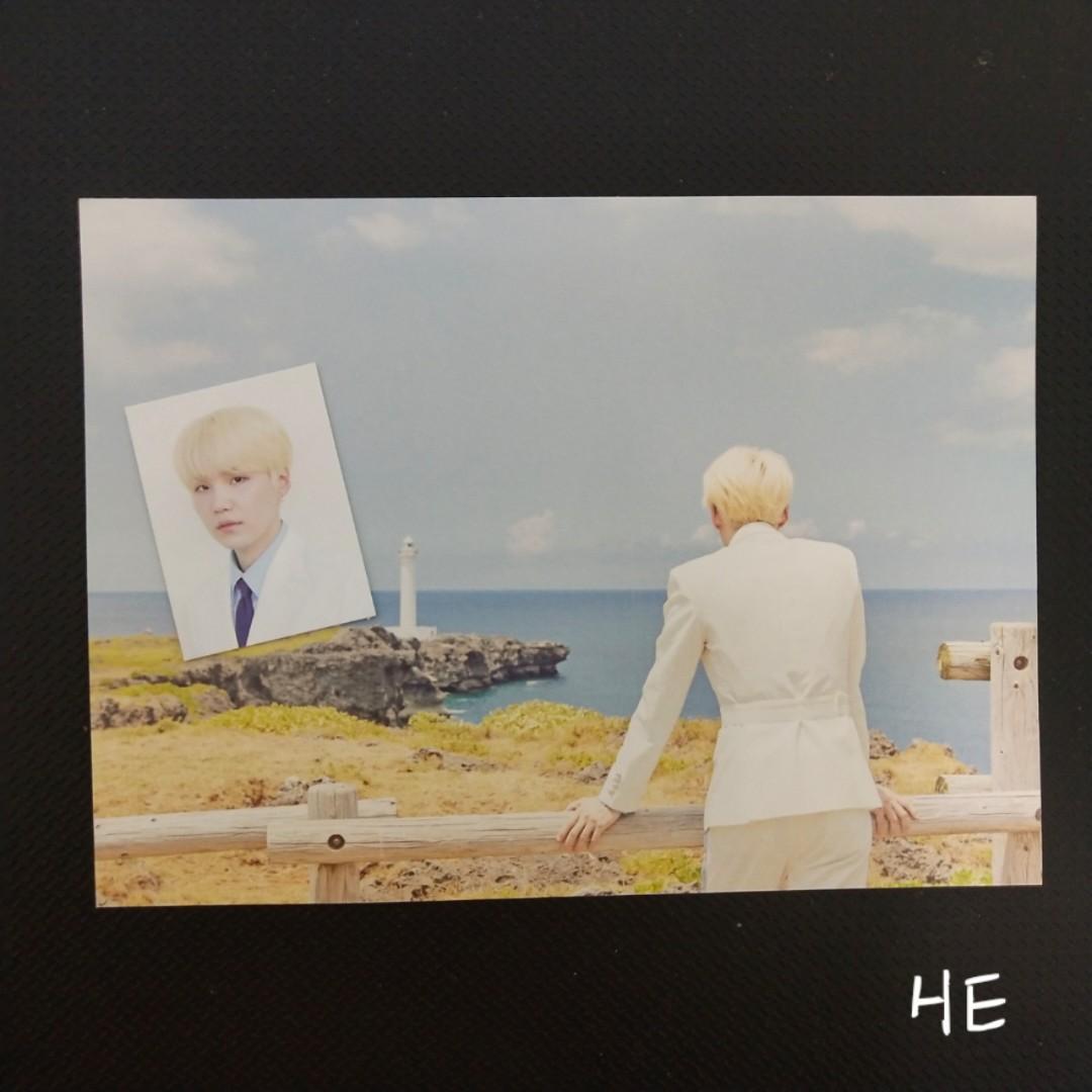 BTS 2018 SEASON'S GREETINGS SUGA'S photocard&id photo