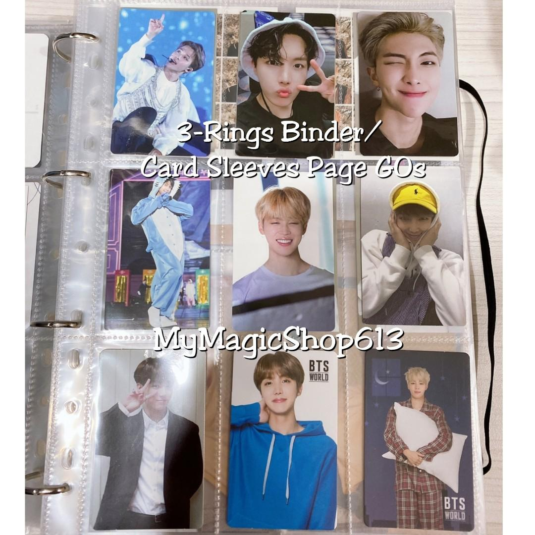<PO CLOSED> 3-Ring Binder / Card Sleeves Page GOs (Photocard collection) #BTS #TWICE #SEVENTEEN