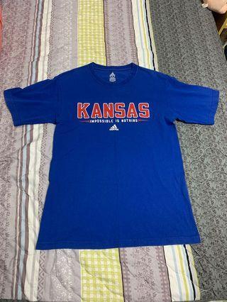 美國購回 NCAA Adidas Kansas university 堪薩斯大學 籃球T恤 M號