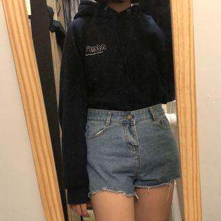 藍色 牛仔短褲