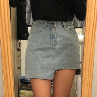 淺藍 牛仔短裙