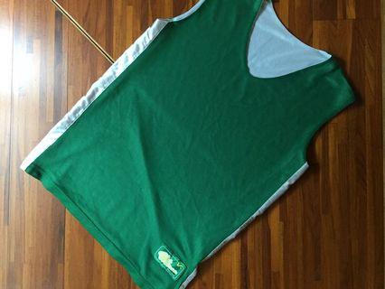球衣 雙面穿 運動 背心 白綠 籃球