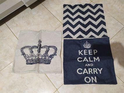 Tiga Kanvas Cushion Cover Sarung Bantal Sofa Pillow Bed