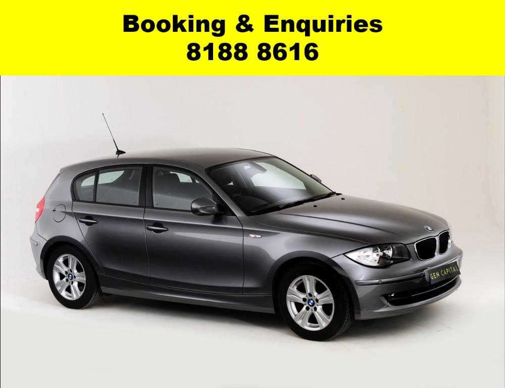 BMW 1/3 Series ADVANCE BOOKING ONLY! Book now, Pay later. We have lowered our rental rates with additional Free rental and Petrol vouchers for new signups! Whatsapp 8188 8616 now to reserve a car now!