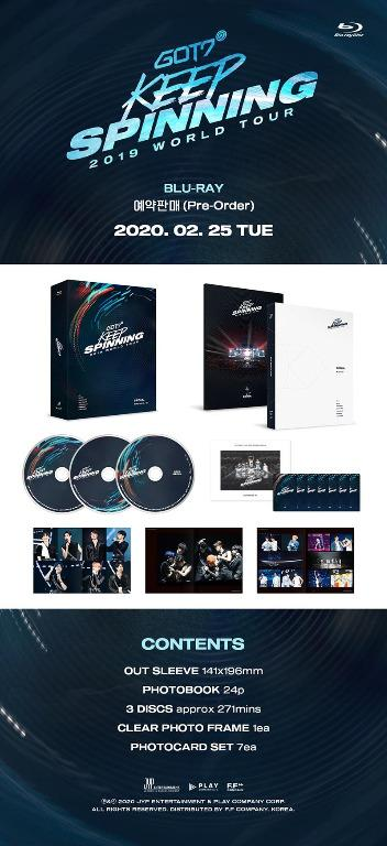 GOT7 2019 WORLD TOUR KEEP SPINNING IN SEOUL BLU-RAY Bluray - PREORDER/READY STOCK+ FREE GIFT PHOTOCARDS