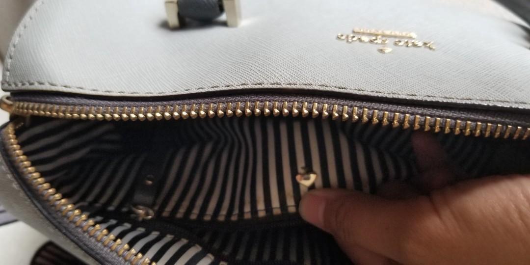 Kate Spade Speedy Grey Preloved Tas Branded Tas Wanita Jual Cepat Murah Authentic