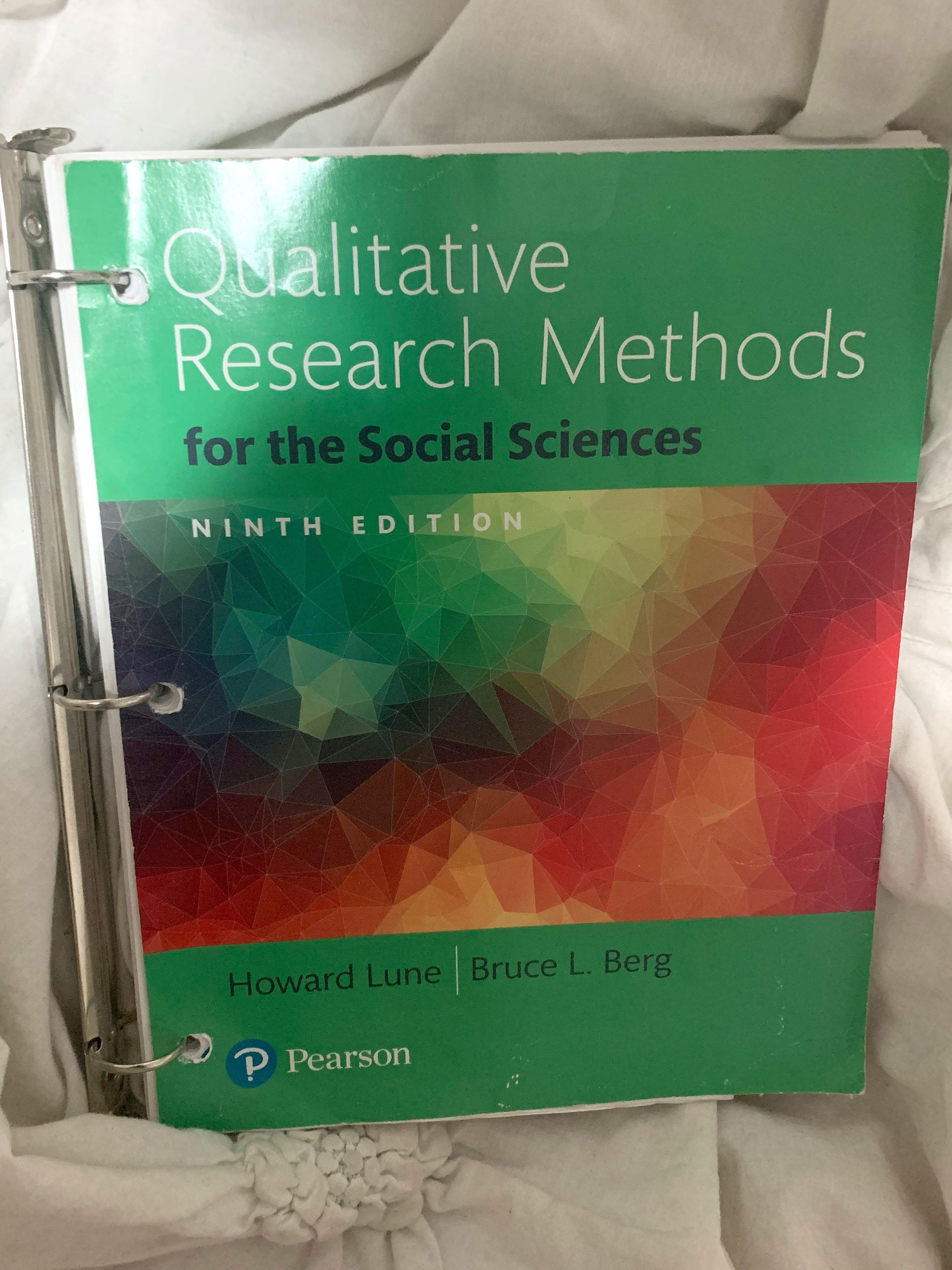 Qualitative research methods for the social science