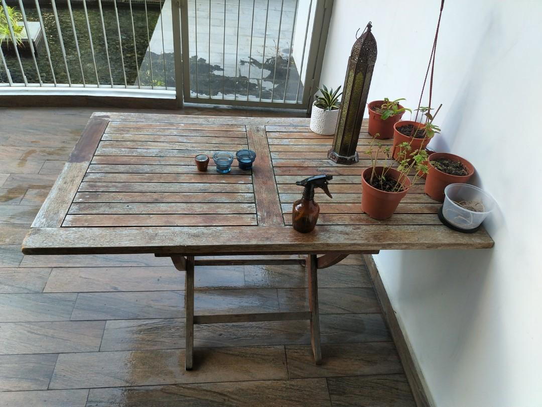 Rustic Outdoor Patio Table And Chair