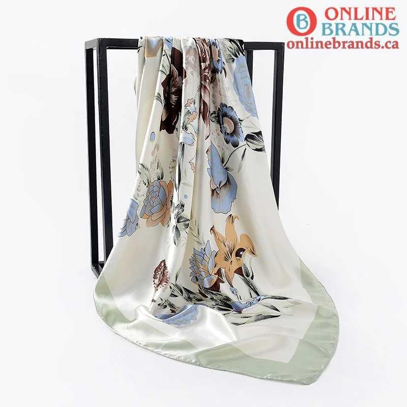 Silk Scarves for Womens | Muslim Hijab | Online brands | Free shipping in Canada