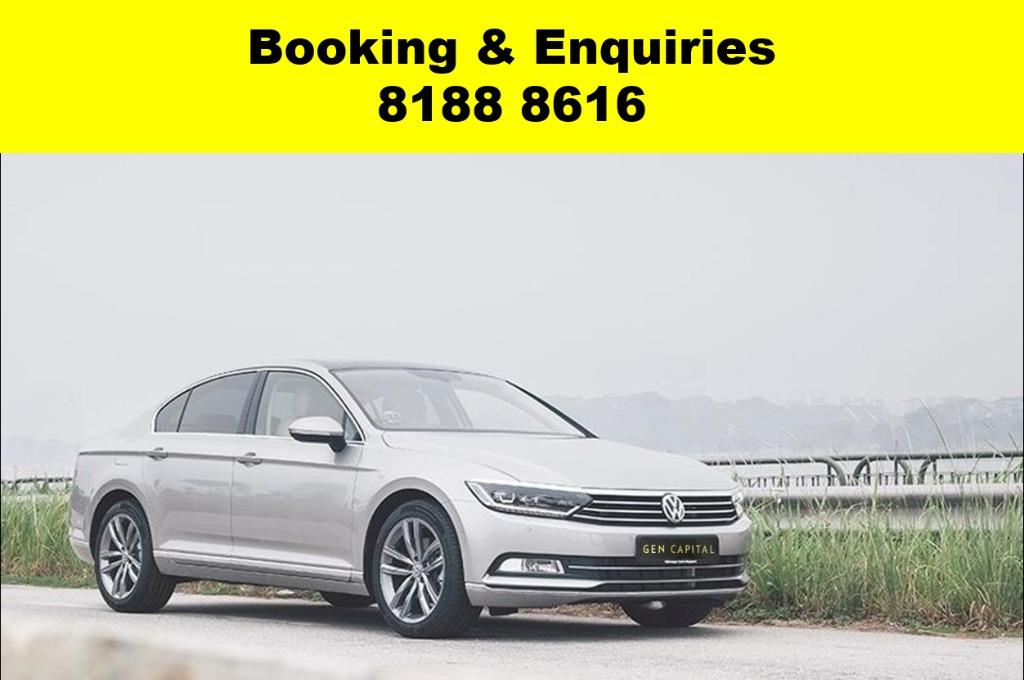 Volkswagen Passat ADVANCE BOOKING ONLY! Book now, Pay later. We have lowered our rental rates with additional Free rental and Petrol vouchers for new signups! Whatsapp 8188 8616 now to reserve a car now!