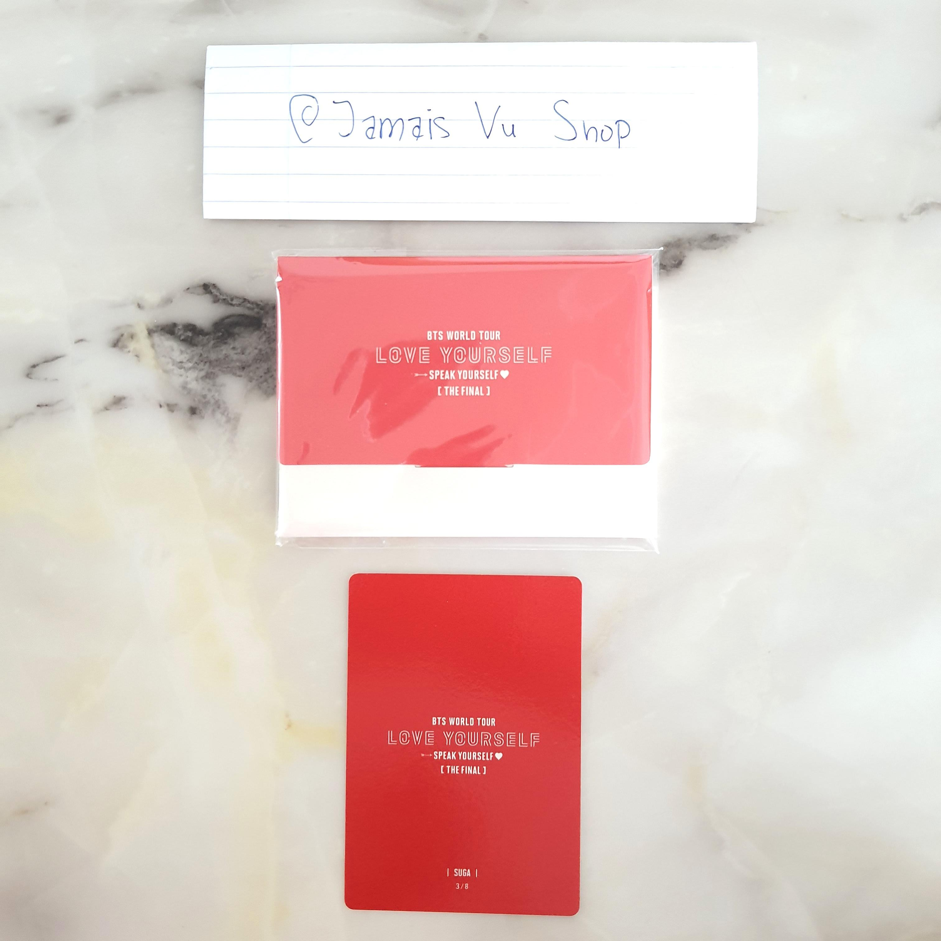 [WTS] BTS SPEAK YOURSELF SY FINAL MD MINI PHOTOCARD 3/8