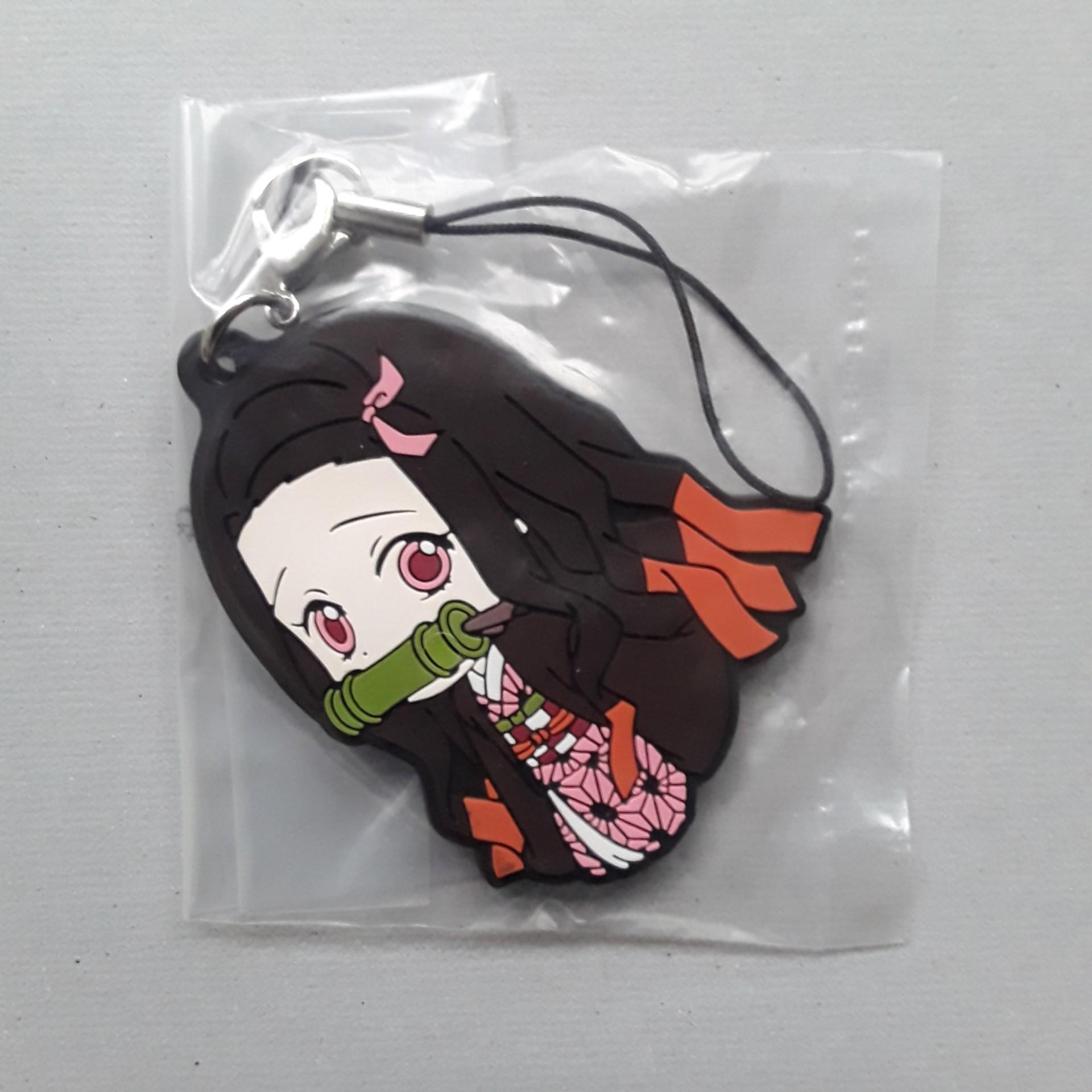 Kimetsu no Yaiba Kuji Rubber Strap Charm Nezuko Kamado Koyoharu Gotoge Anime b