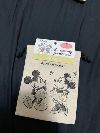 迪士尼 米奇 米妮 Mickey Minnie 束口袋
