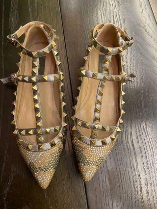 水晶娃娃卯釘鞋36.5號
