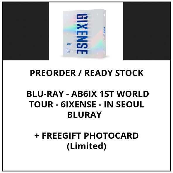 BLU-RAY - AB6IX 1ST WORLD TOUR - 6IXENSE - IN SEOUL BLURAY - PREORDER / READY STOCK + FREE GIFT PHOTOCARDS