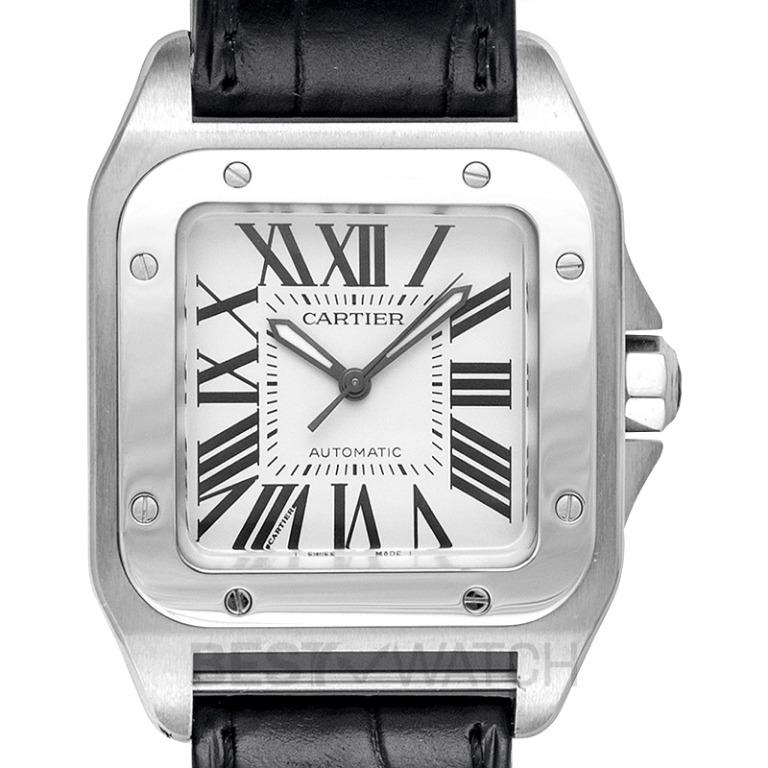 [NEW] Cartier Santos de Cartier 35.6 mm Automatic Mother of pearl Dial Stainless Steel Unisex Watch W20106X8
