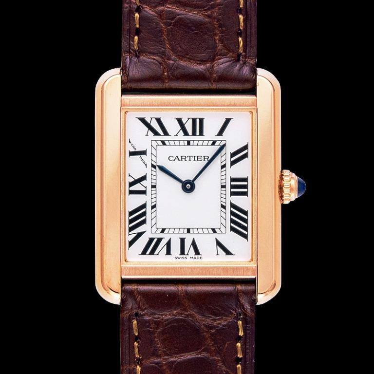 [NEW] Cartier Tank Solo 31 mm x 24.4 mm Quartz Silver Dial 18kt Rose Gold and Stainless Steel Ladies Watch W5200024