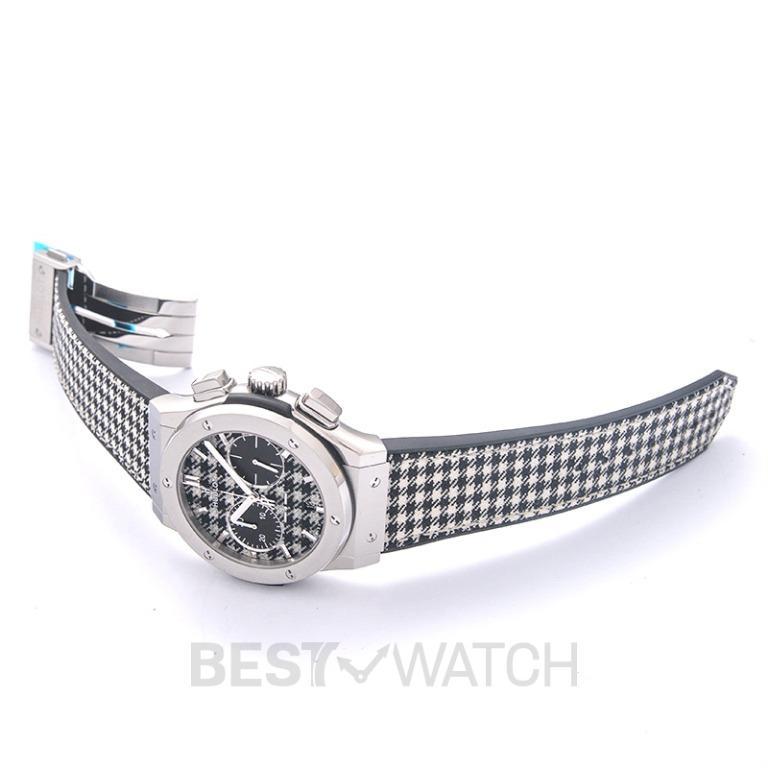 [NEW] Hublot Classic Fusion Chronograph Italia Independent Pieds-De-Poule Titanium Automatic Black Dial Men's Watch 521.NX.2702.NR.ITI17