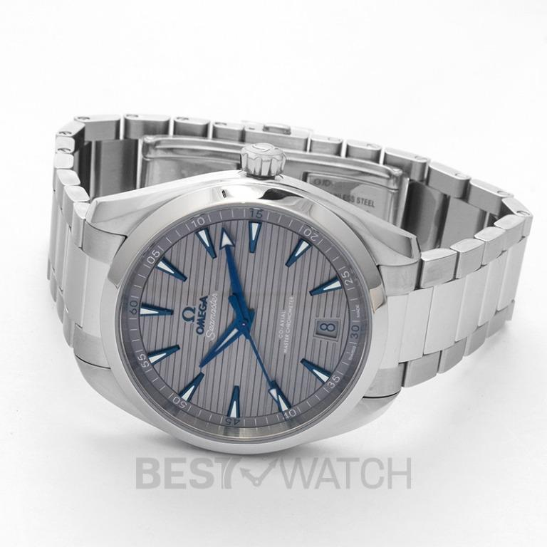 [NEW] Omega Seamaster Aqua Terra 150M Co-Axial Master Chronometer 41 mm Automatic Grey Dial Steel Men's Watch 220.10.41.21.06.001