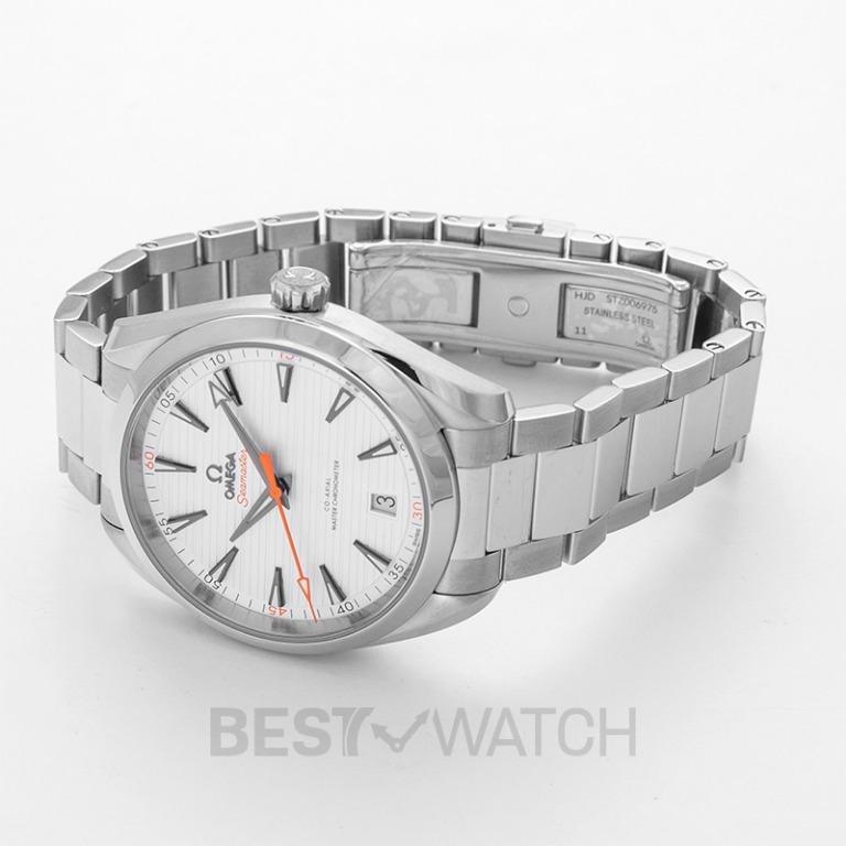 """[NEW] Omega Seamaster Aqua Terra 150M Co-Axial Master Chronometer 41mm Automatic Silver Dial Steel Men's Watch"""" 220.10.41.21.02.001"""