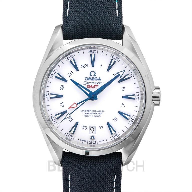 [NEW] Omega Seamaster Aqua Terra 150M Master Co-Axial GMT 43mm Automatic White Dial Titanium Men's Watch 231.92.43.22.04.001