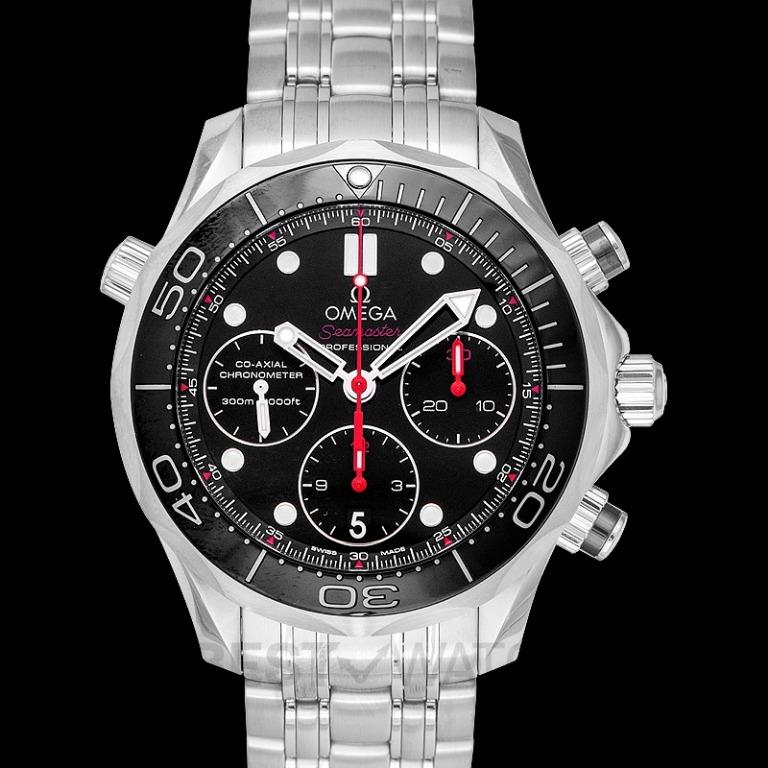 [NEW] Omega Seamaster Diver 300 M Co-Axial Chronograph 41.5 mm Automatic Black Dial Steel Men's Watch 212.30.42.50.01.001