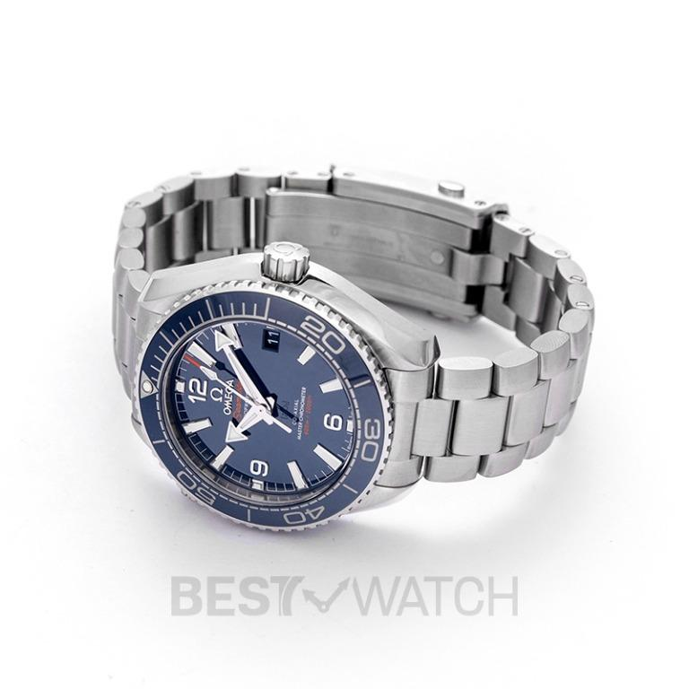 [NEW] Omega Seamaster Planet Ocean 600M Co-Axial Master Chronometer 39.5mm Automatic Blue Dial Steel Men's Watch 215.30.40.20.03.001