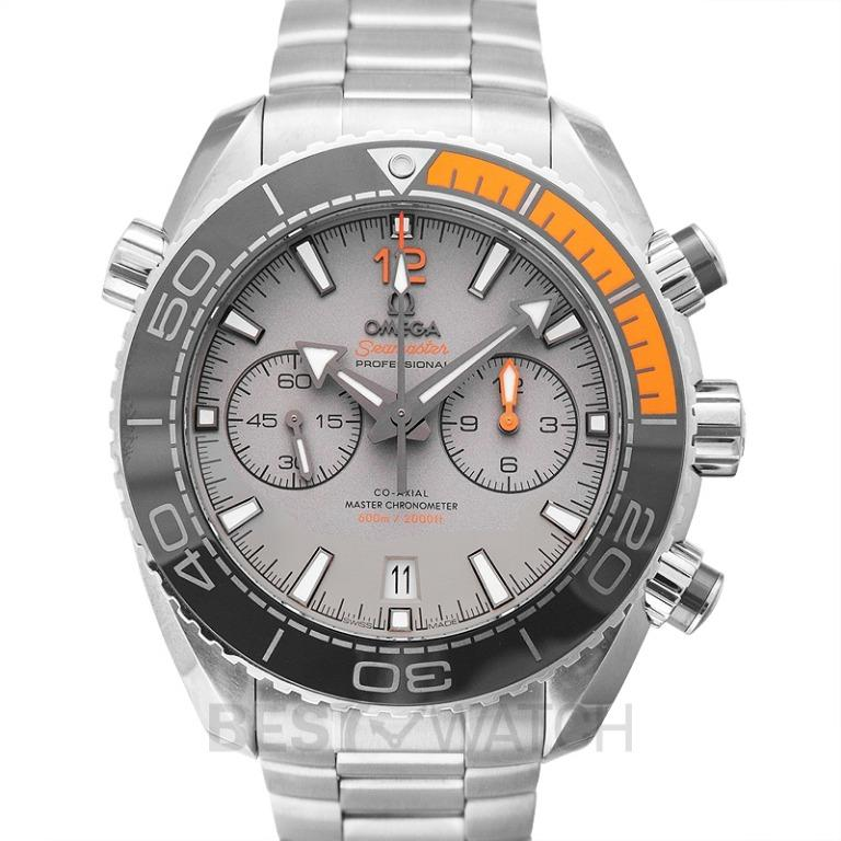 [NEW] Omega Seamaster Planet Ocean 600M Co-Axial Master Chronometer Chronograph 45.5 mm Automatic Grey Dial Titanium Men's Watch 215.90.46.51.99.001